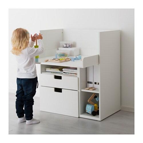 Stuva desk with 2 drawers white 90x79x102 cm ikea - Fasciatoio con bagnetto ikea ...
