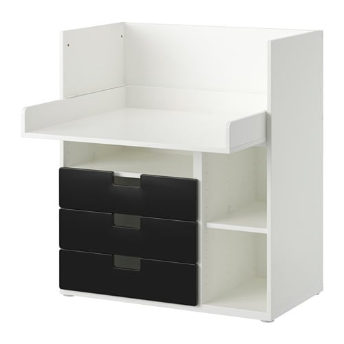 Stuva desk with 3 drawers white black 90x79x102 cm ikea - Bureau modulable ikea ...