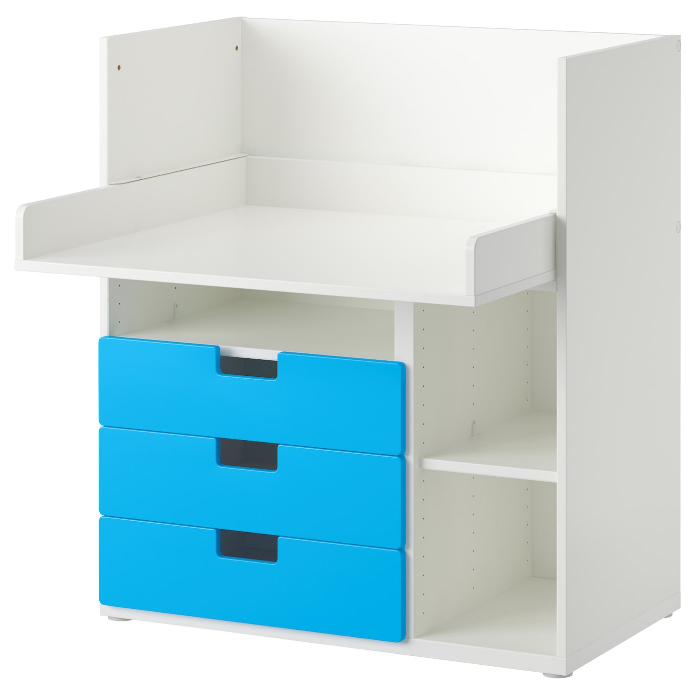 stuva desk with 3 drawers white blue 90x79x102 cm ikea. Black Bedroom Furniture Sets. Home Design Ideas