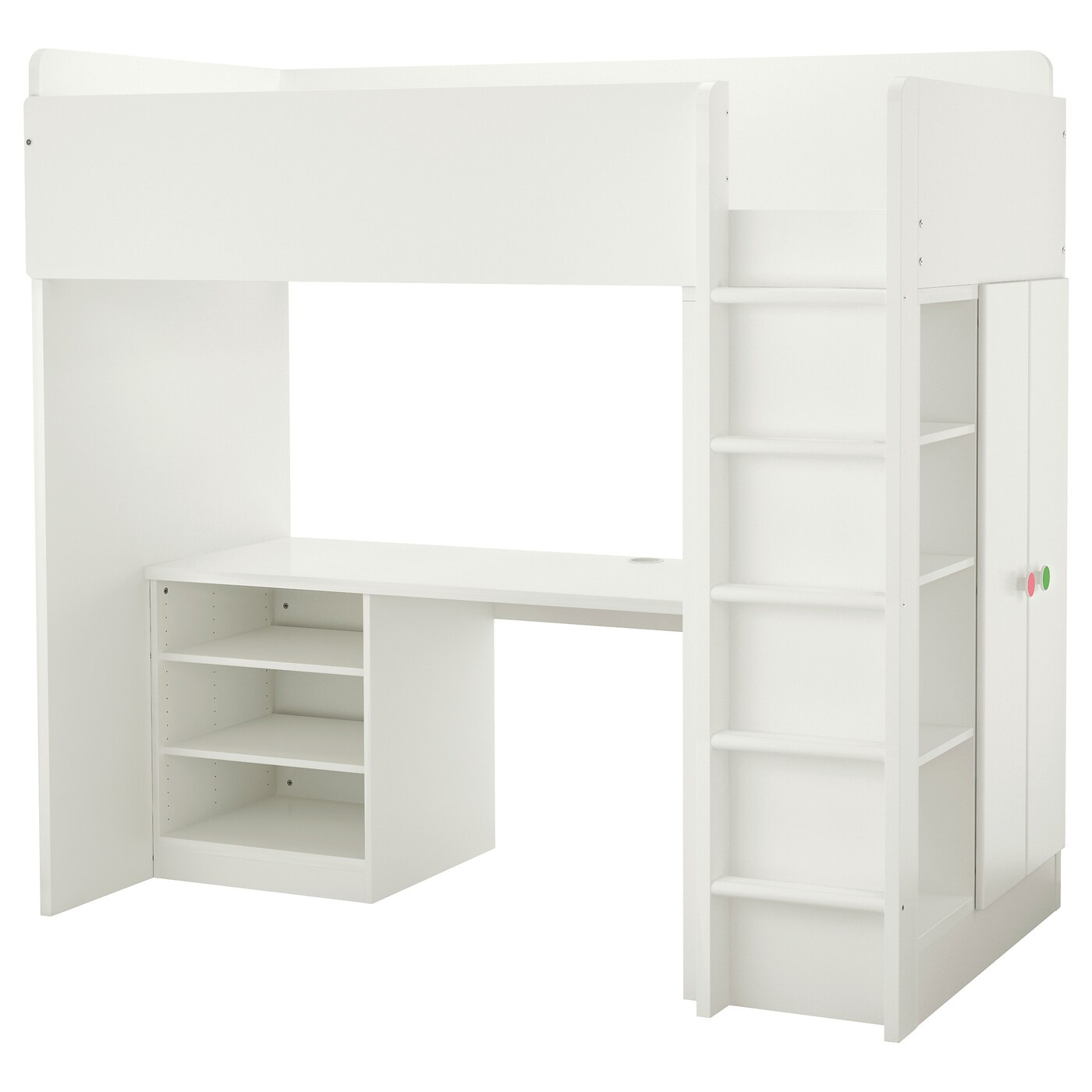 stuva f lja loft bed combo w 2 shelves 2 doors white 207x99x193 cm ikea. Black Bedroom Furniture Sets. Home Design Ideas