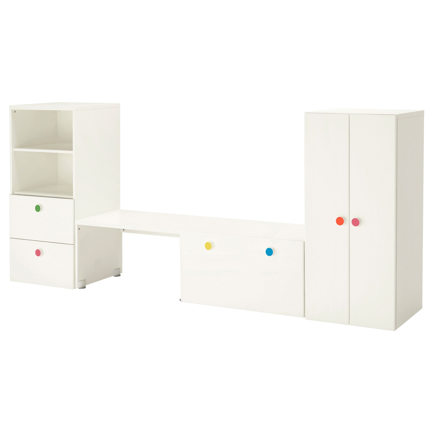 stuva f lja storage combination with bench white 300x50x128 cm ikea. Black Bedroom Furniture Sets. Home Design Ideas