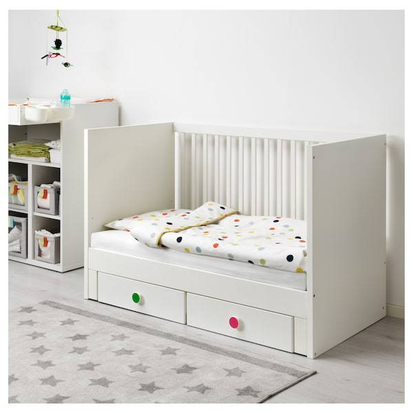STUVA / FÖLJA cot with drawers white 146 cm 74 cm 92 cm 70 cm 140 cm 20 kg