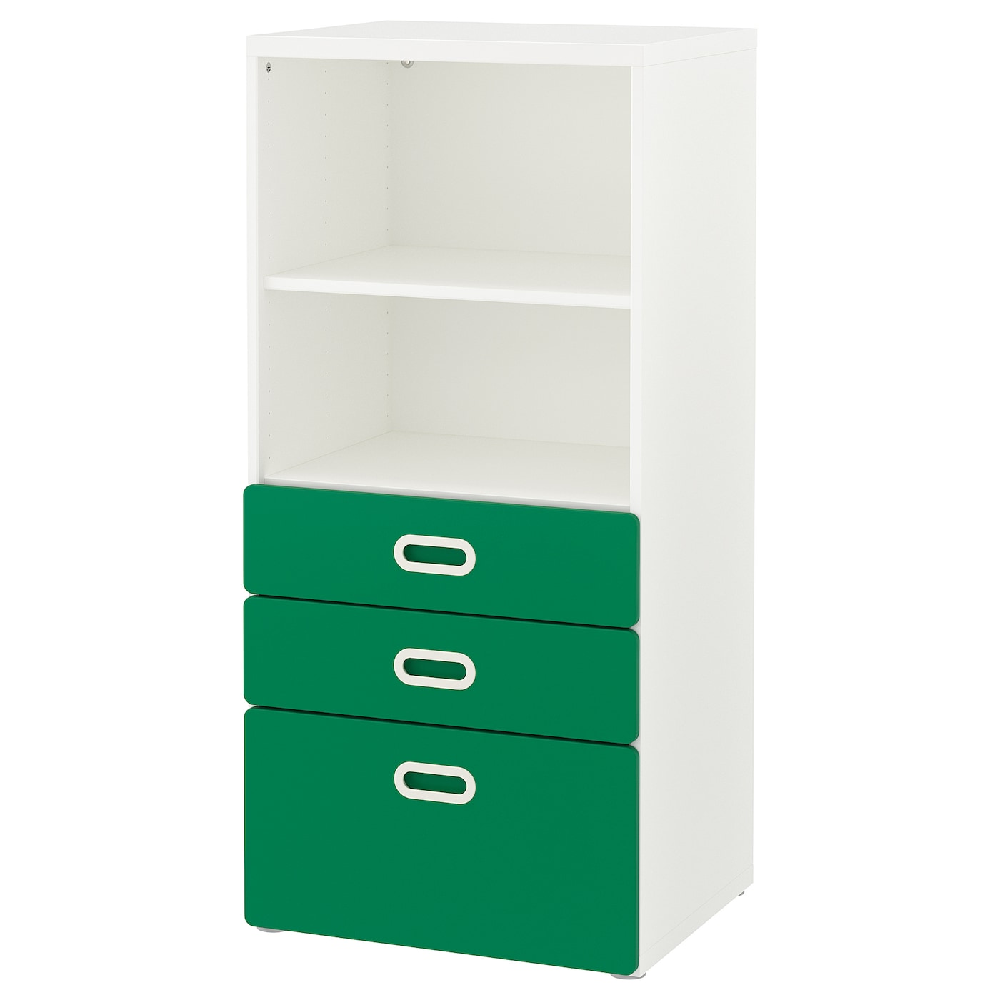 Bookcase With Drawers Stuva Fritids White Green