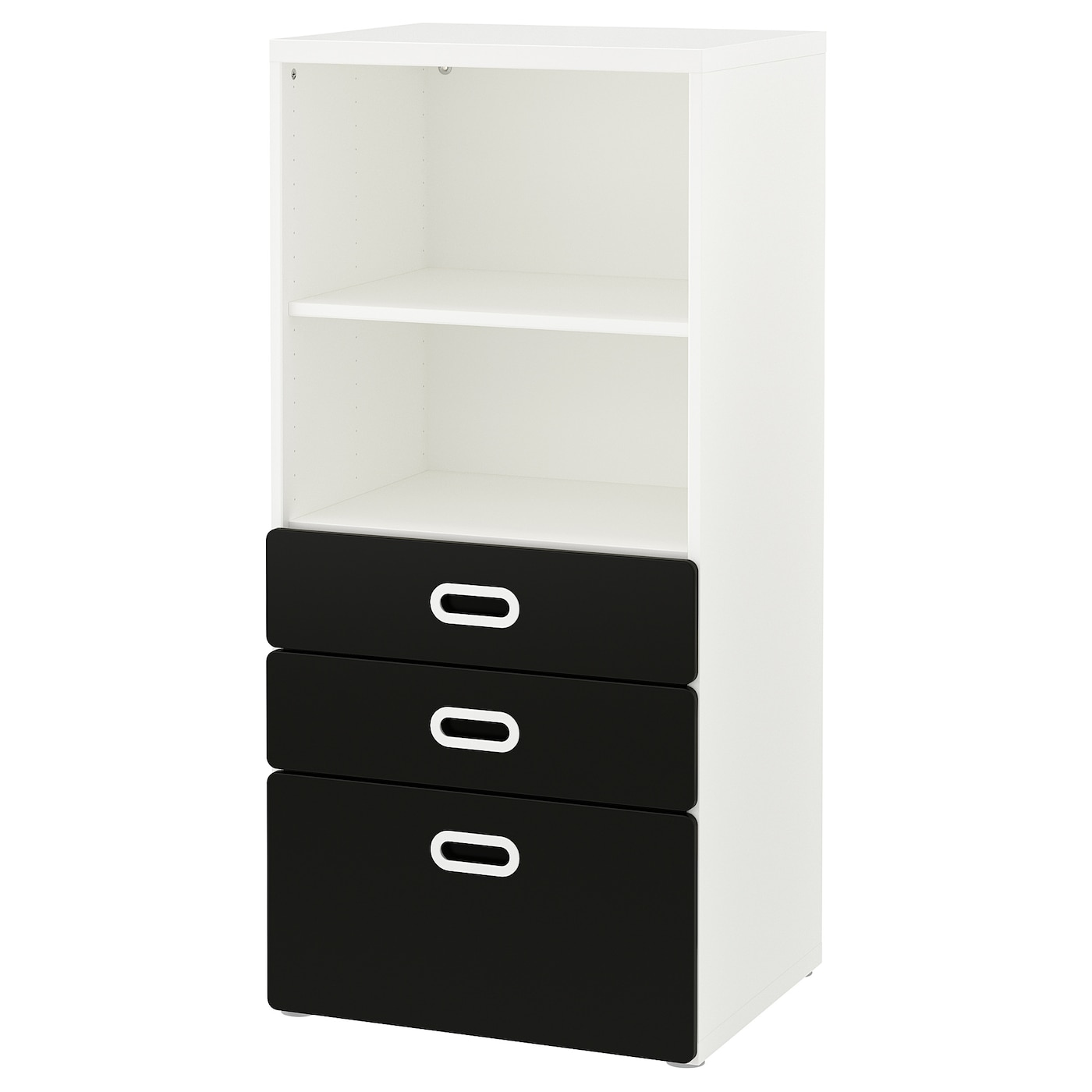 Bookcase With Drawers Stuva Fritids White Blackboard Surface