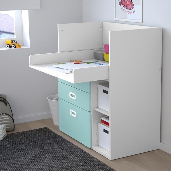 Cassettiera Ikea Con Fasciatoio.Stuva Fritids Changing Table With Drawers White Light Blue Ikea