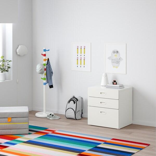 STUVA / FRITIDS Chest of 3 drawers, white/white, 60x64 cm