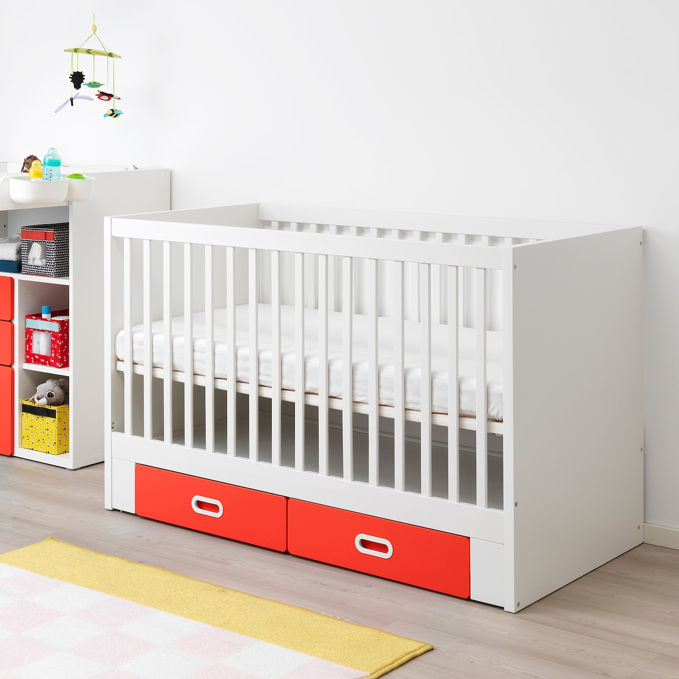 STUVA / FRITIDS cot with drawers red 146 cm 74 cm 92 cm 70 cm 140 cm 20 kg