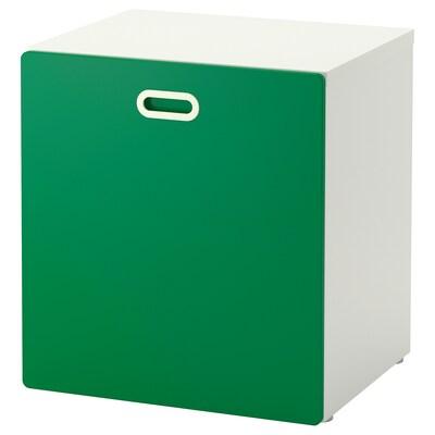 STUVA / FRITIDS Toy storage with wheels, white/green, 60x50x64 cm