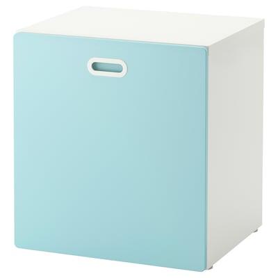 STUVA / FRITIDS Toy storage with wheels, white/light blue, 60x50x64 cm