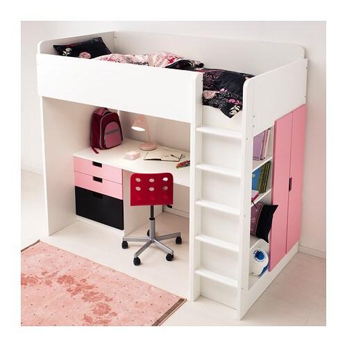 Stuva loft bed combo w 1 drawer 2 doors white pink - Ikea stuva hochbett ...