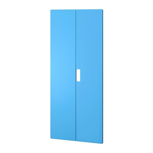 IKEA STUVA MÅLAD door The doors have rounded corners and a cut-out handle with smooth edges.