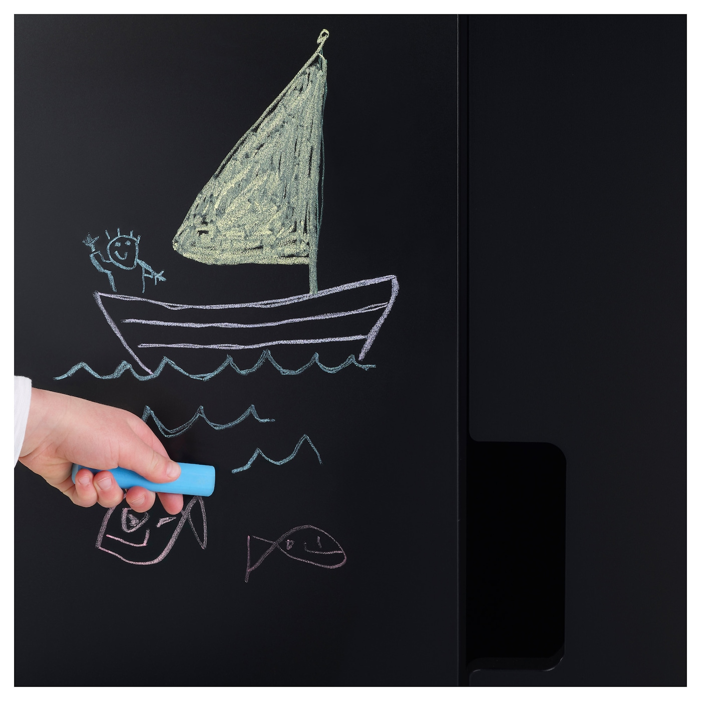 IKEA STUVA MÅLAD door with blackboard surface