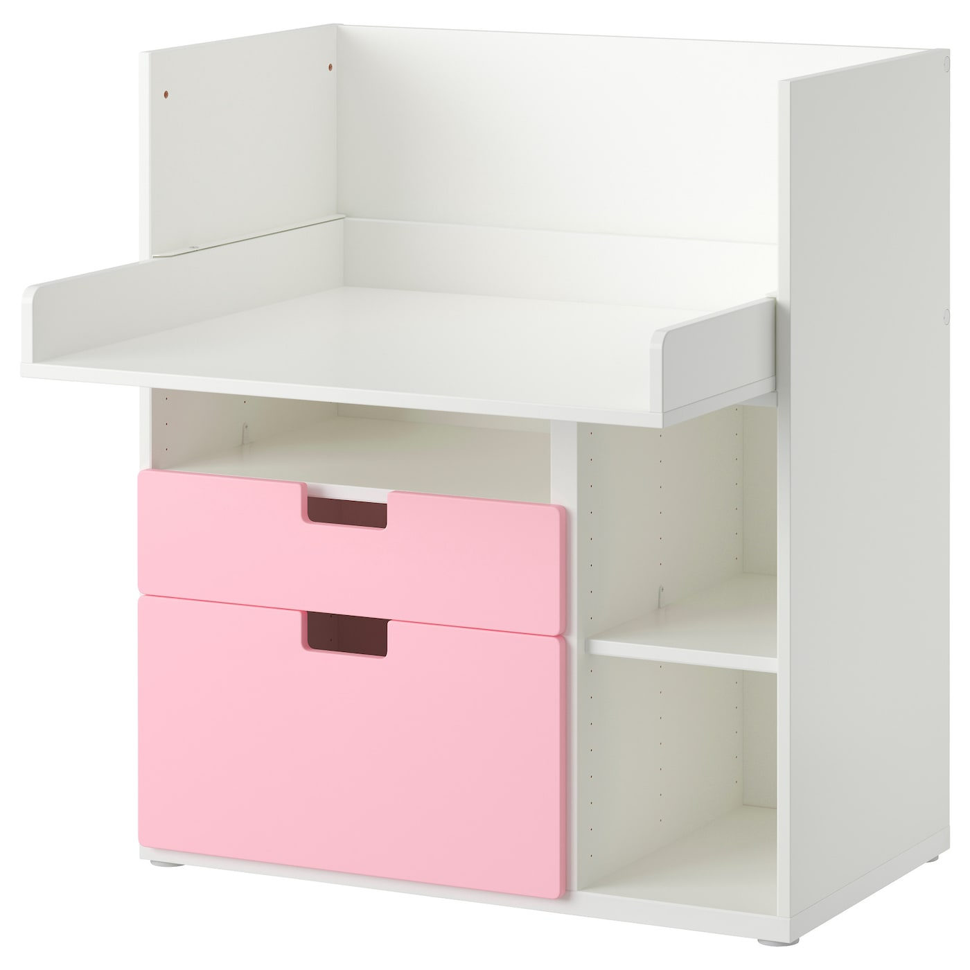 Small Hickory White Table With 3 Drawers ~ Stuva play table with drawers white pink cm ikea