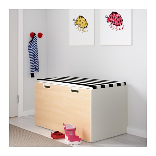 ikea stuva storage bench stands steady also on uneven floors since