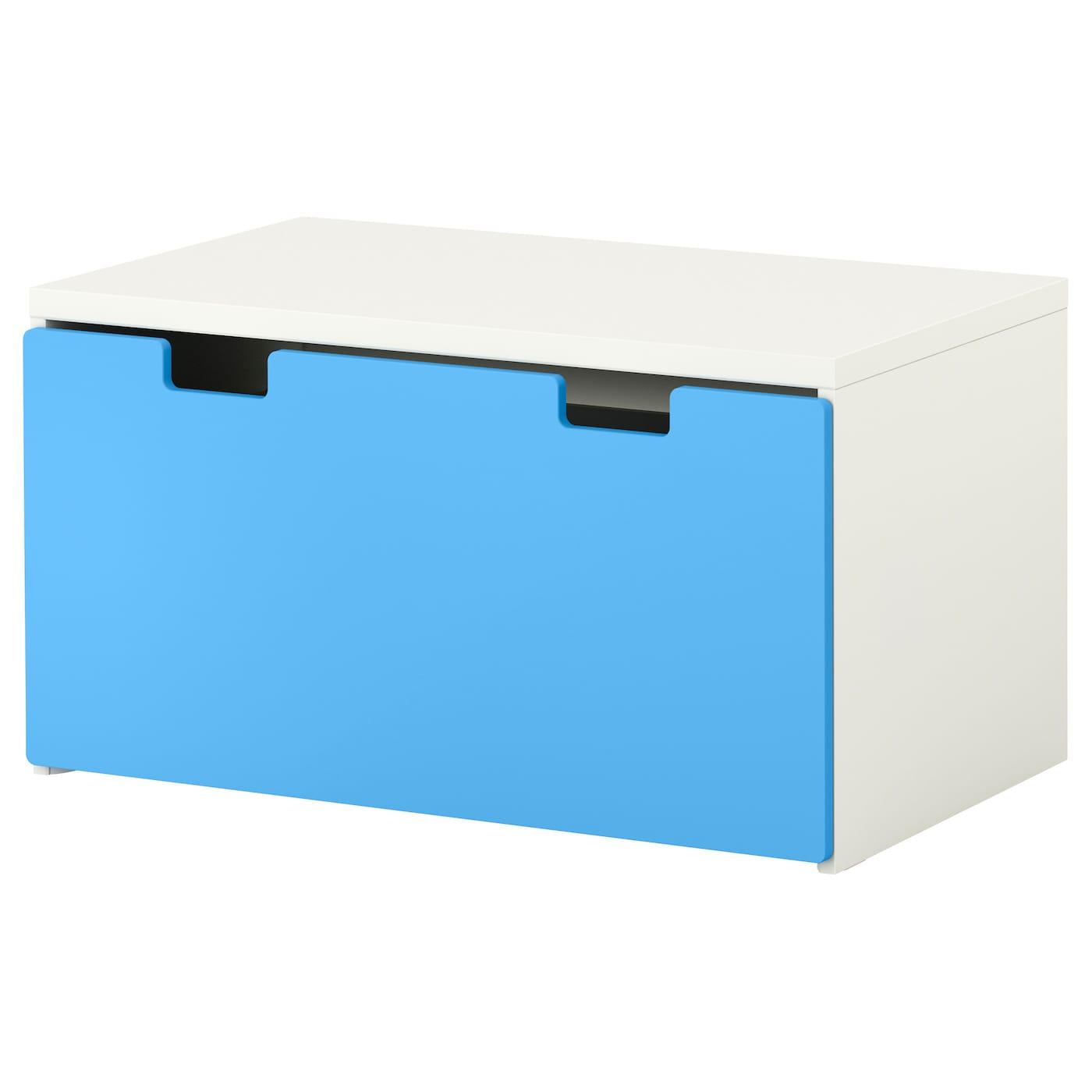 stuva storage bench white blue 90x50x50 cm ikea. Black Bedroom Furniture Sets. Home Design Ideas