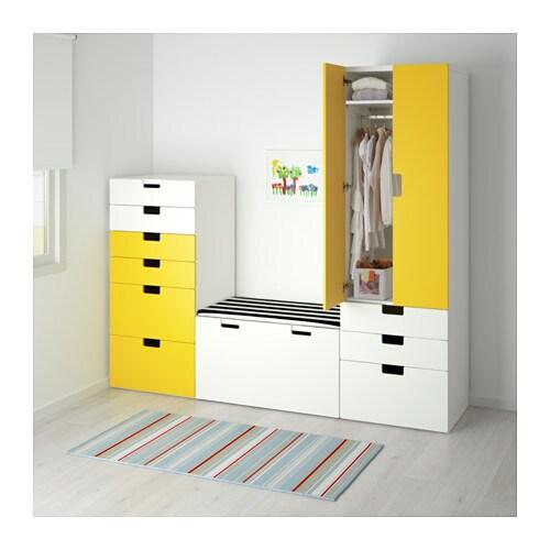 stuva storage combination white yellow 210x50x192 cm ikea. Black Bedroom Furniture Sets. Home Design Ideas