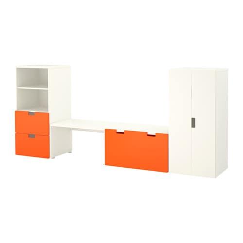 STUVA Storage combination with bench Whiteorange  -> Ikea Wandregal Orange
