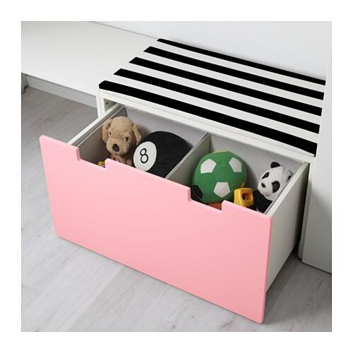 Stuva storage combination with bench white pink 300x50x128 cm ikea - Ikea panca contenitore ...