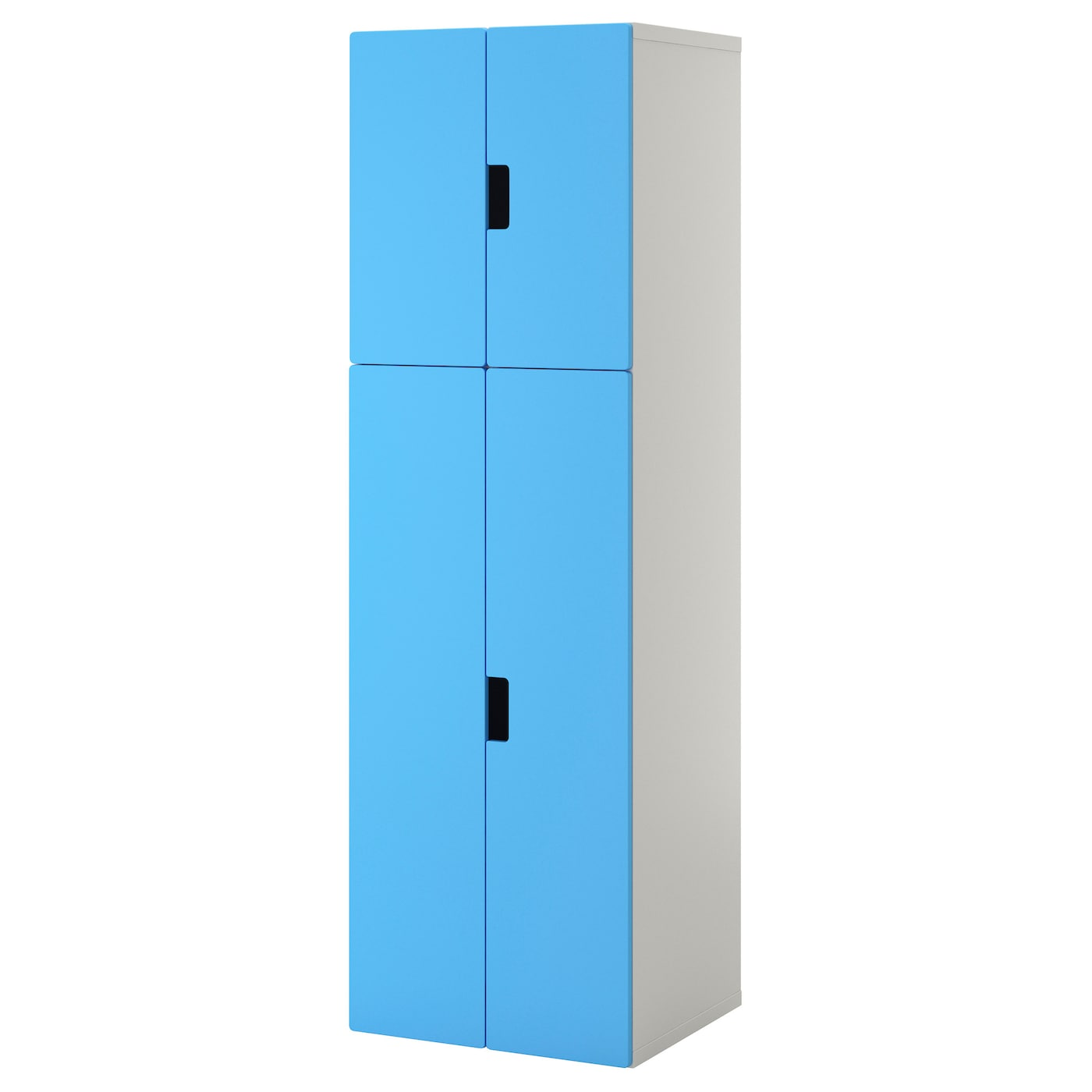 Stuva storage combination with doors white blue 60x50x192 for Meuble 90 cm largeur
