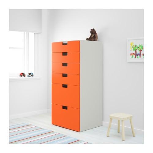 STUVA Storage combination with drawers Whiteorang -> Ikea Wandregal Orange