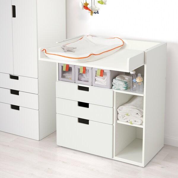 STUVA / STUVA MÅLAD changing table with drawers white/white 90 cm 79 cm 102 cm 15 kg
