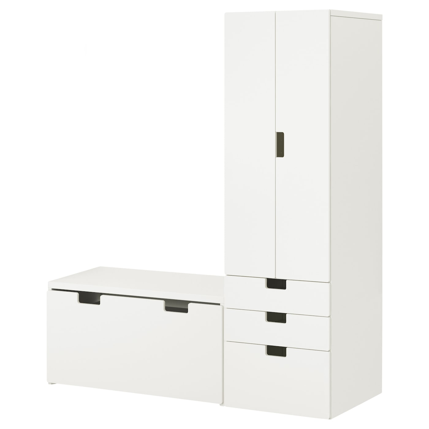 Stuva Stuva Malad White White Wardrobe With Storage Bench Ikea