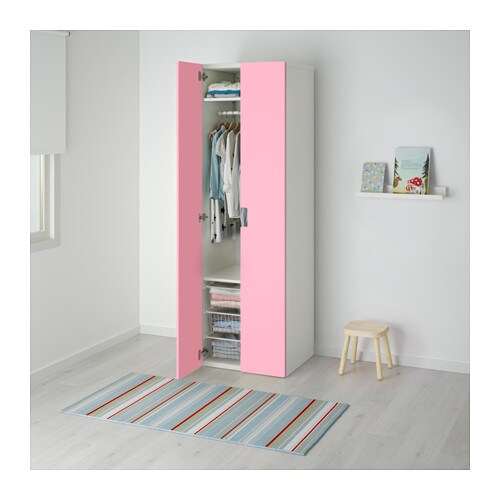 stuva wardrobe white pink 60x50x192 cm ikea. Black Bedroom Furniture Sets. Home Design Ideas
