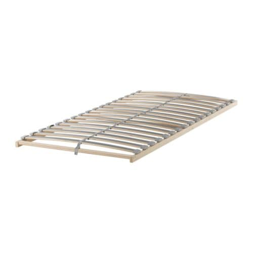 SULTAN LÖDINGEN Slatted bed base IKEA 17 slats of layer-glued birch provide support for your body.