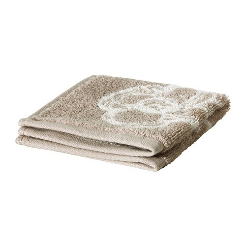 SUMMELN Washcloth IKEA A terry towel in medium thickness that is soft and highly absorbent (weight 450 g/m²).