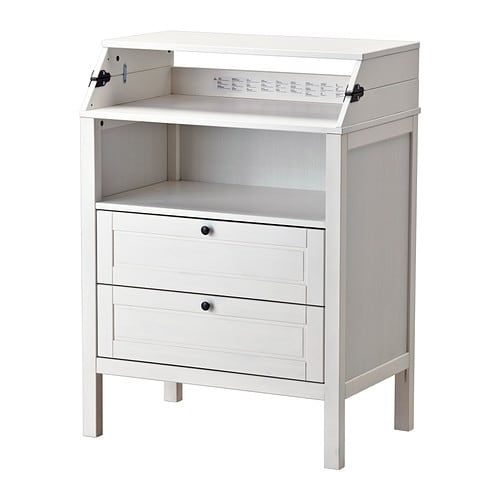 Ikea Vinstra Frisiertisch Mit Spiegel ~ Changing table chest of drawers SUNDVIK White