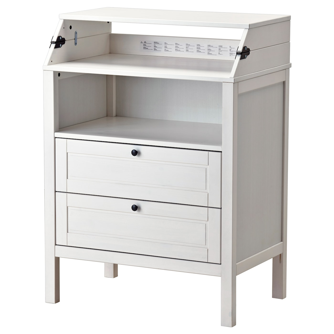 sundvik changing table chest of drawers white ikea. Black Bedroom Furniture Sets. Home Design Ideas