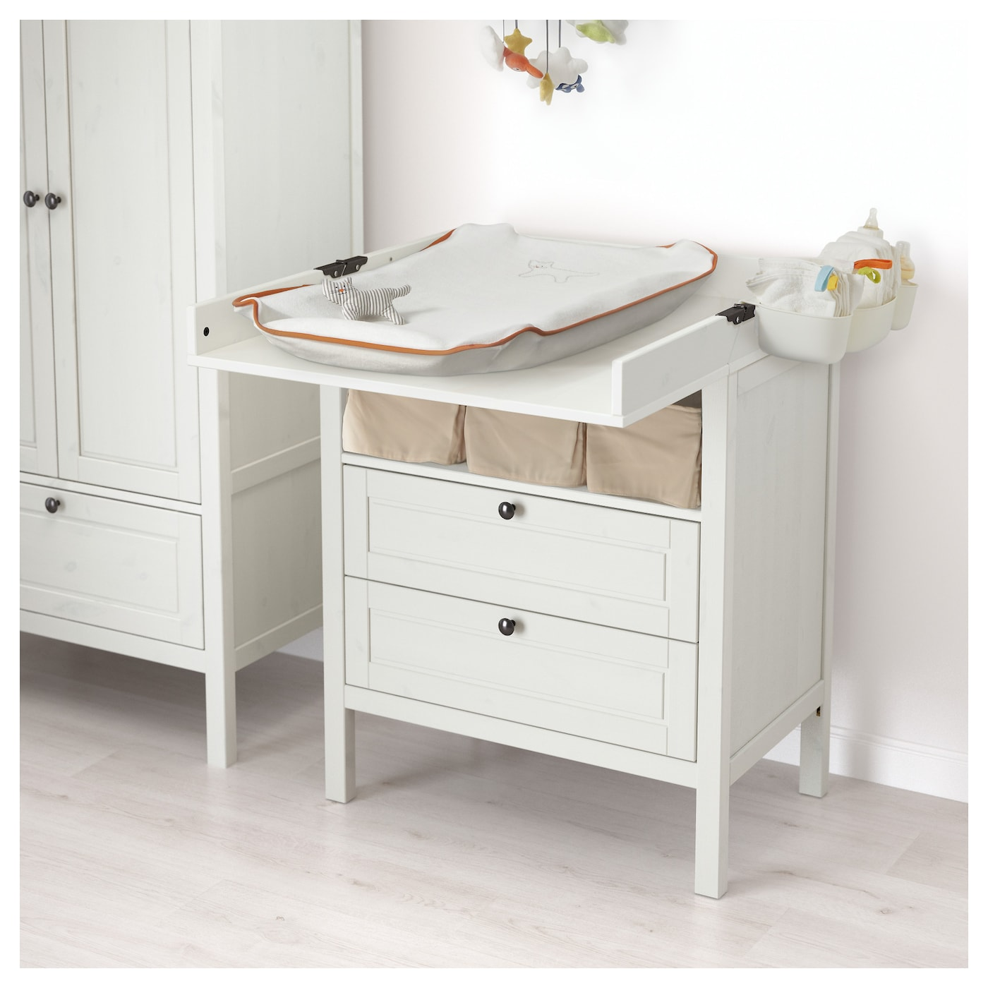 pin table changing wood baby diaper drawers with white