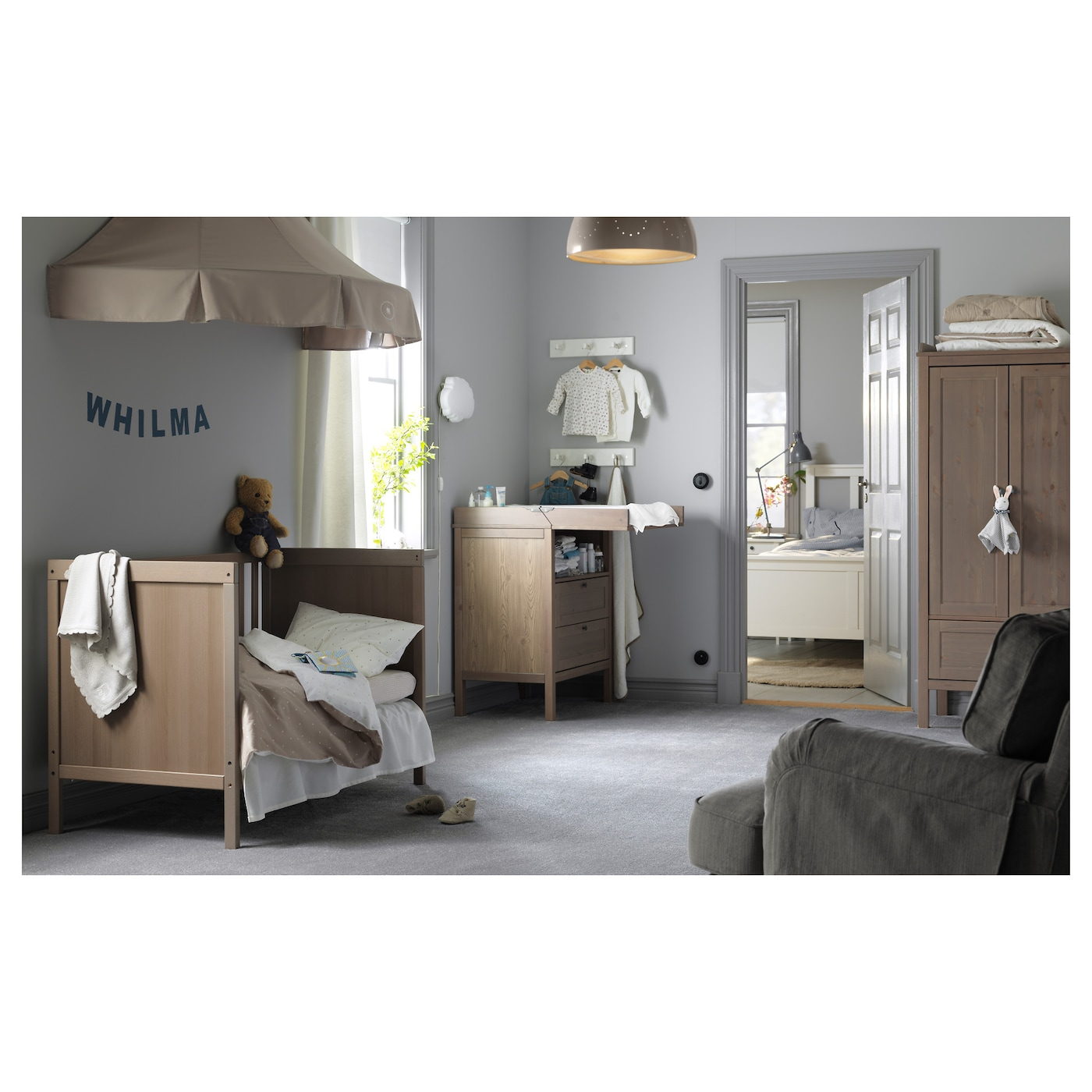 sundvik cot grey brown 70 x 140 cm ikea. Black Bedroom Furniture Sets. Home Design Ideas