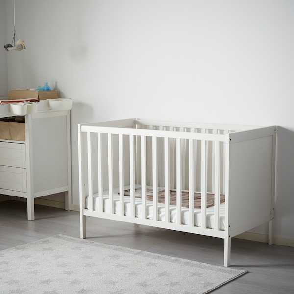 SUNDVIK Cot, white, 70x140 cm