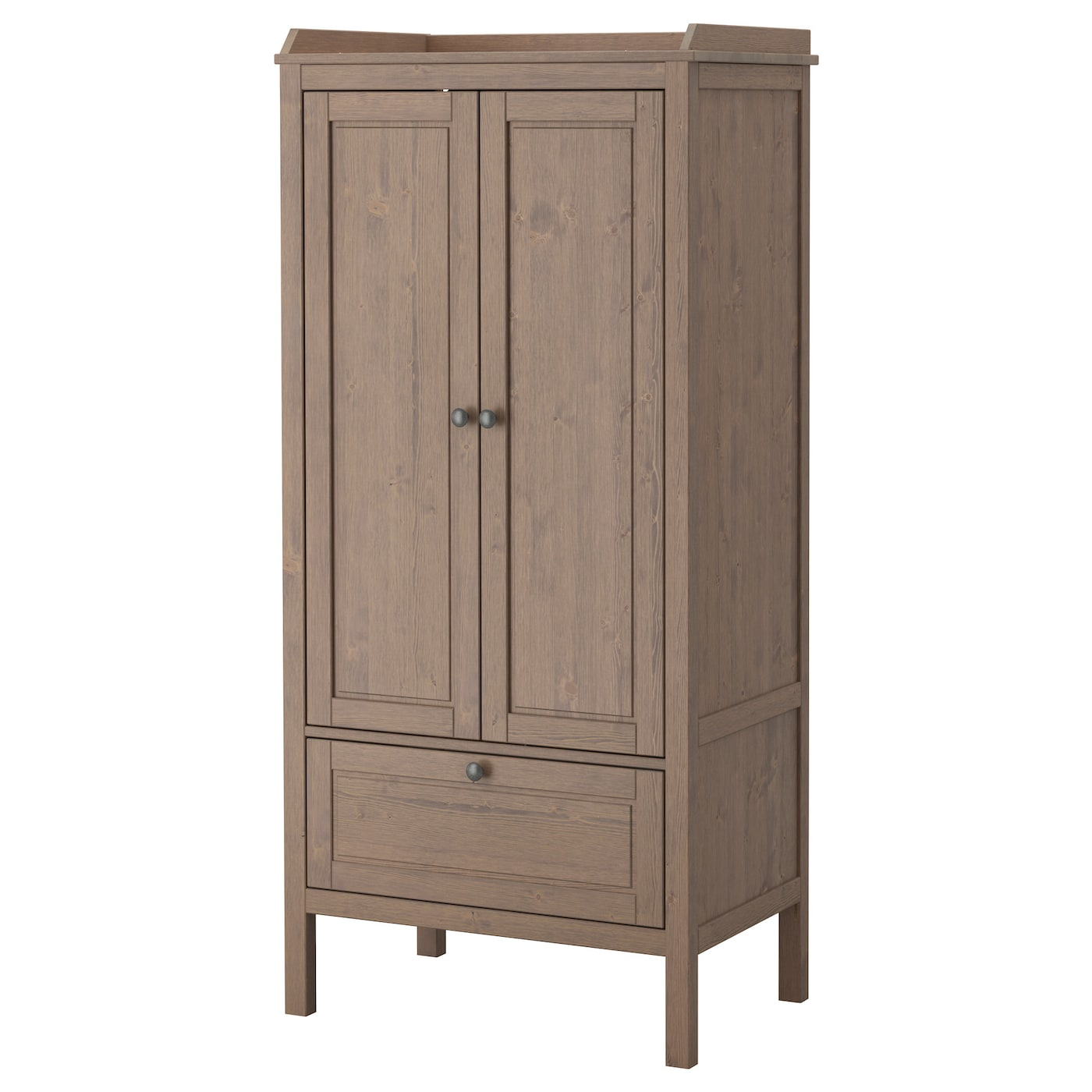 Sundvik wardrobe grey brown 80x50x171 cm ikea for Ikea grey bedroom furniture