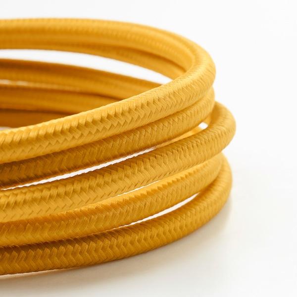 SUNNEBY Cord set, dark yellow textile, 1.8 m