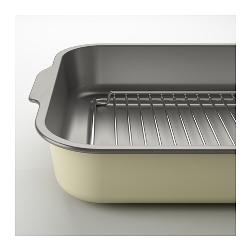 sutare roasting tin with grill rack light yellow 40x29 cm ikea. Black Bedroom Furniture Sets. Home Design Ideas