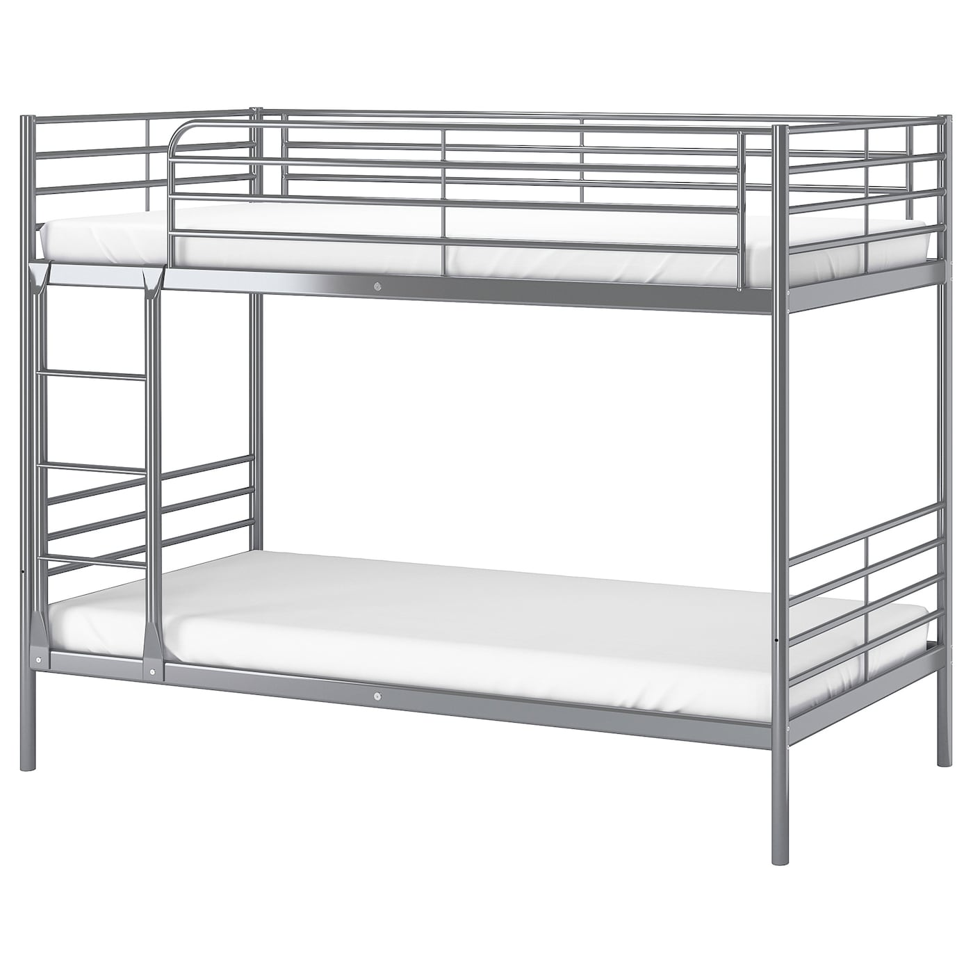 sv rta bunk bed frame silver colour 90 x 200 cm ikea. Black Bedroom Furniture Sets. Home Design Ideas