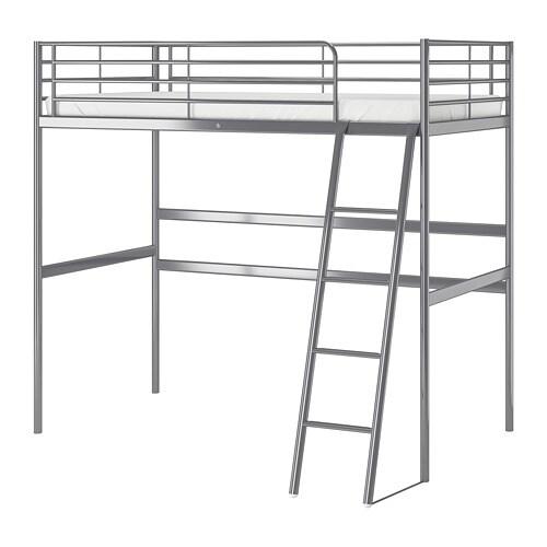 sv rta loft bed frame silver colour 90 x 200 cm ikea. Black Bedroom Furniture Sets. Home Design Ideas