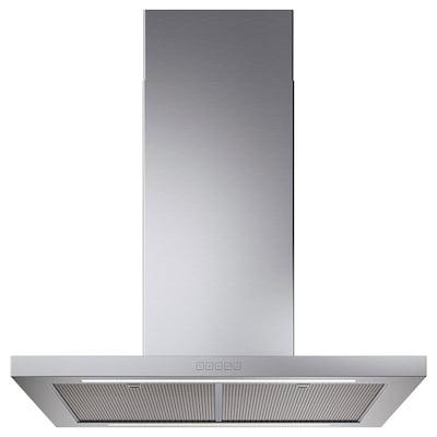 SVÄVANDE Ceiling-mounted extractor hood, stainless steel, 90 cm