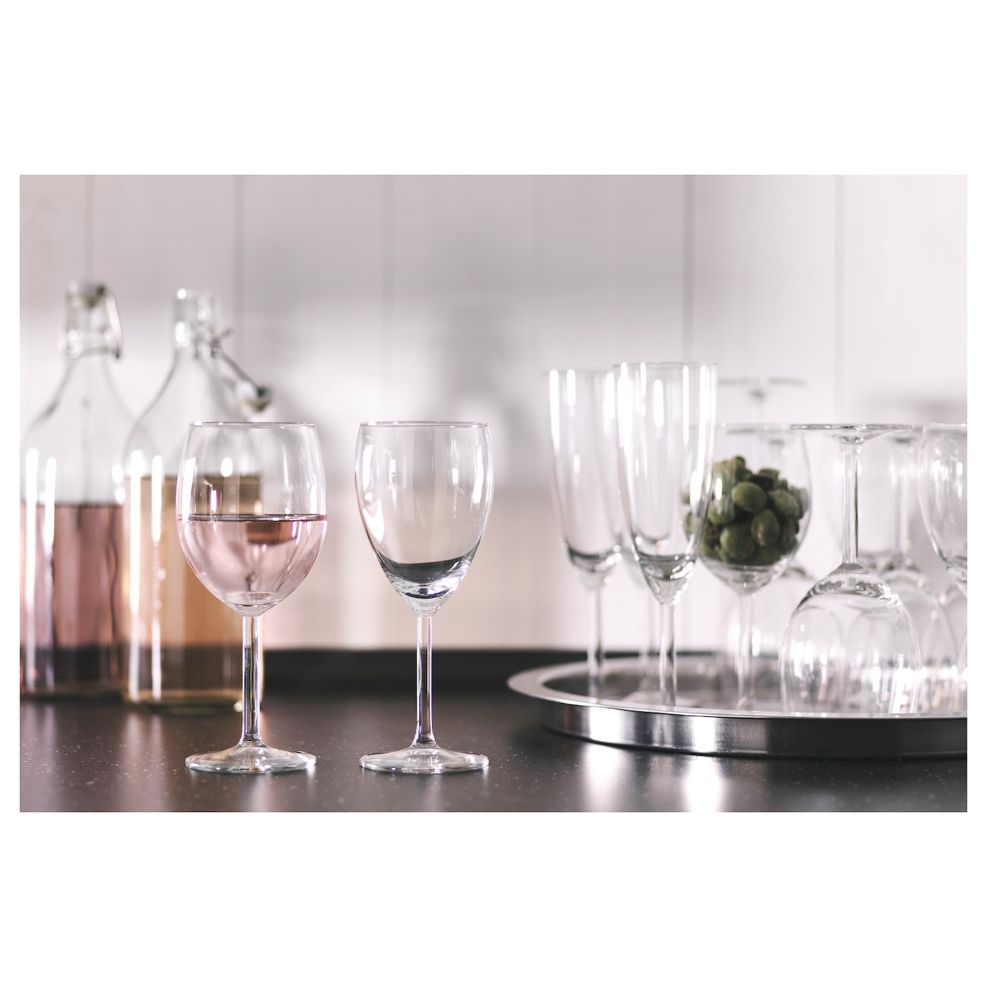 IKEA SVALKA white wine glass Dishwasher-safe.