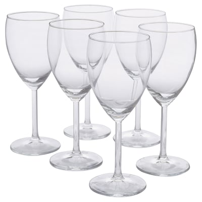 SVALKA White wine glass, clear glass, 25 cl