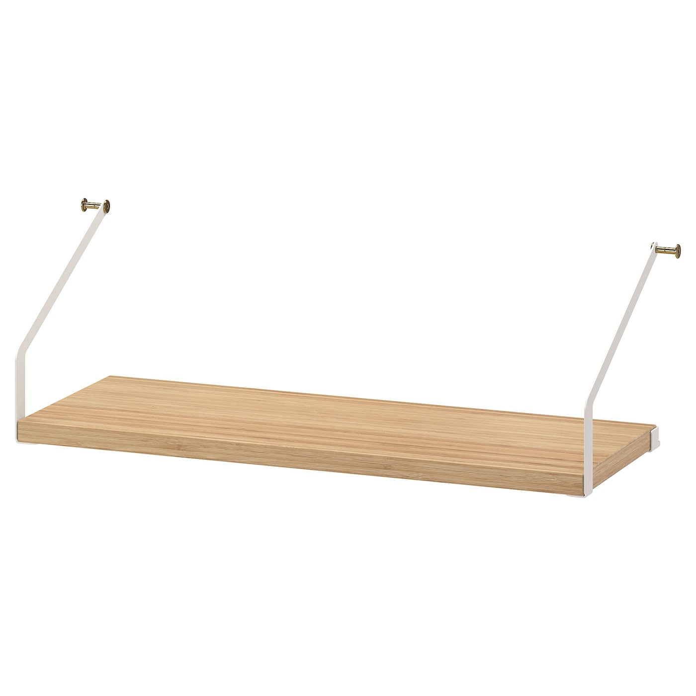 IKEA SVALNÄS shelf Made of bamboo, which is an easy-care, hard-wearing natural material.