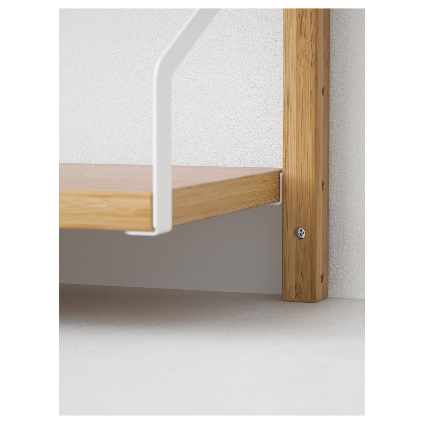 SVALNÄS Wall-mounted shelf combination Bamboo 193x25x176 cm - IKEA