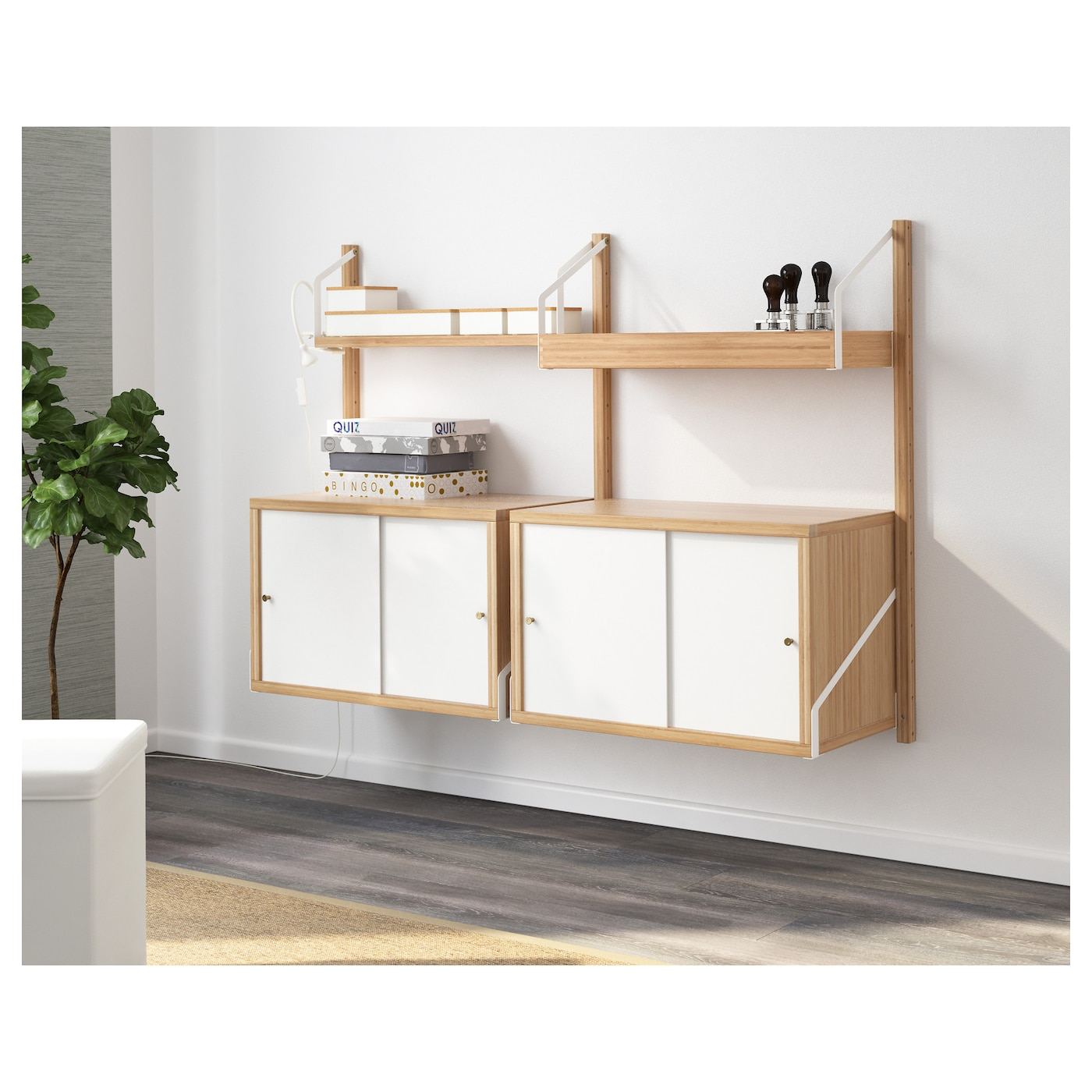 Exceptional IKEA SVALNÄS Wall Mounted Storage Combination