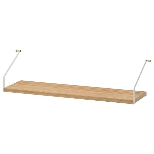 SVALNÄS Shelf, bamboo, 81x25 cm