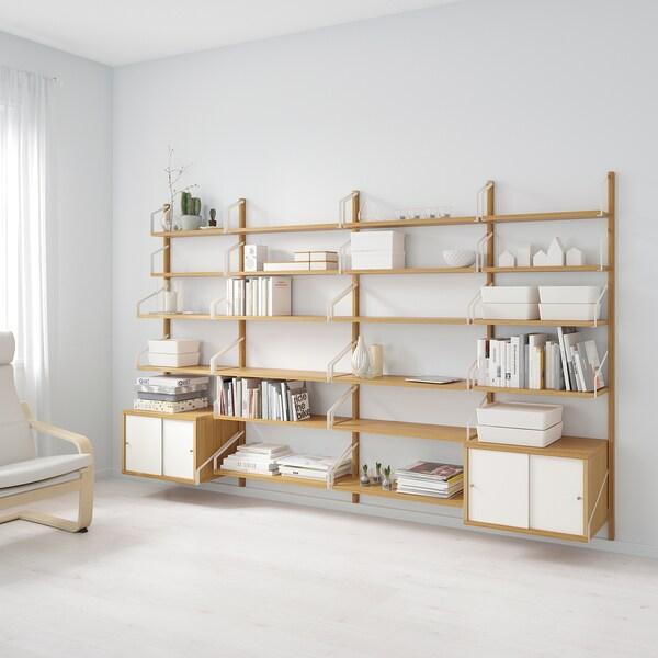 IKEA SVALNAS Bamboo, White Wall mounted