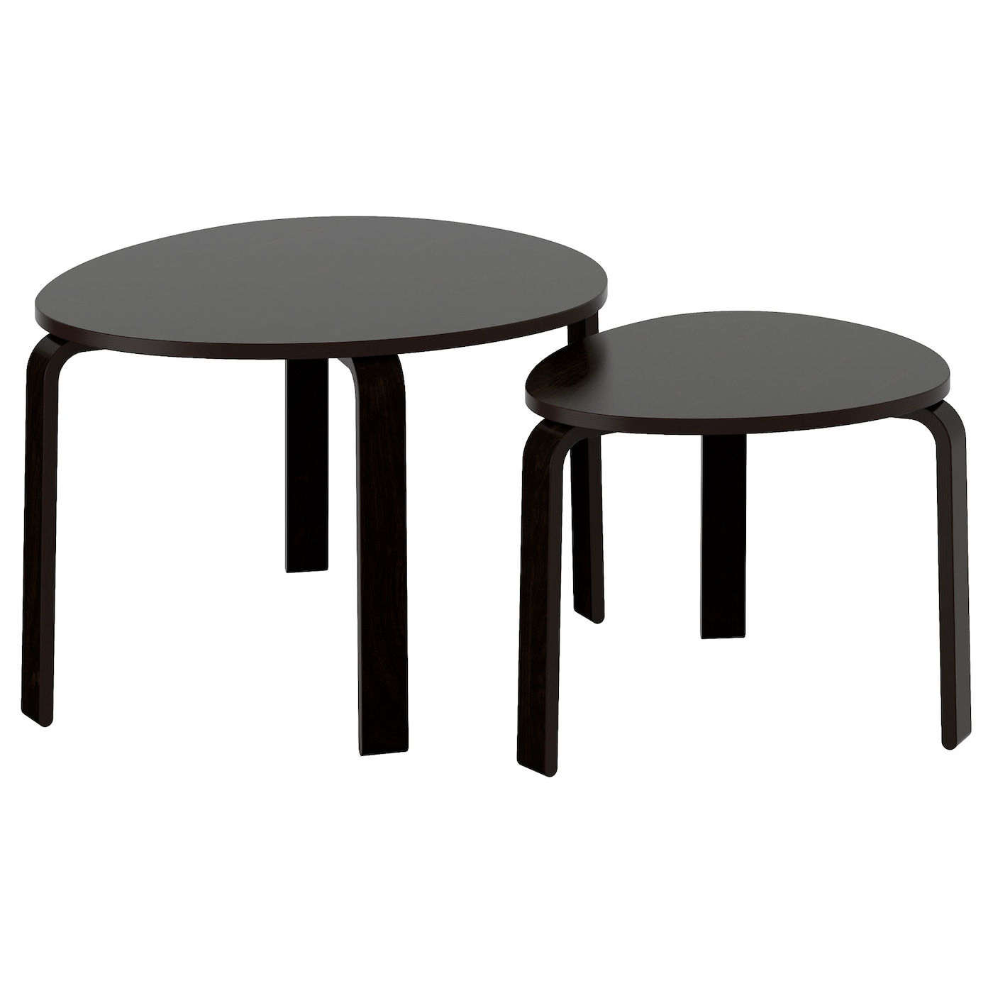 IKEA SVALSTA nest of tables, set of 2 Can be used individually or be pushed together to save space.