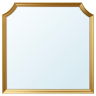 SVANSELE Mirror, gold-colour, 78x78 cm