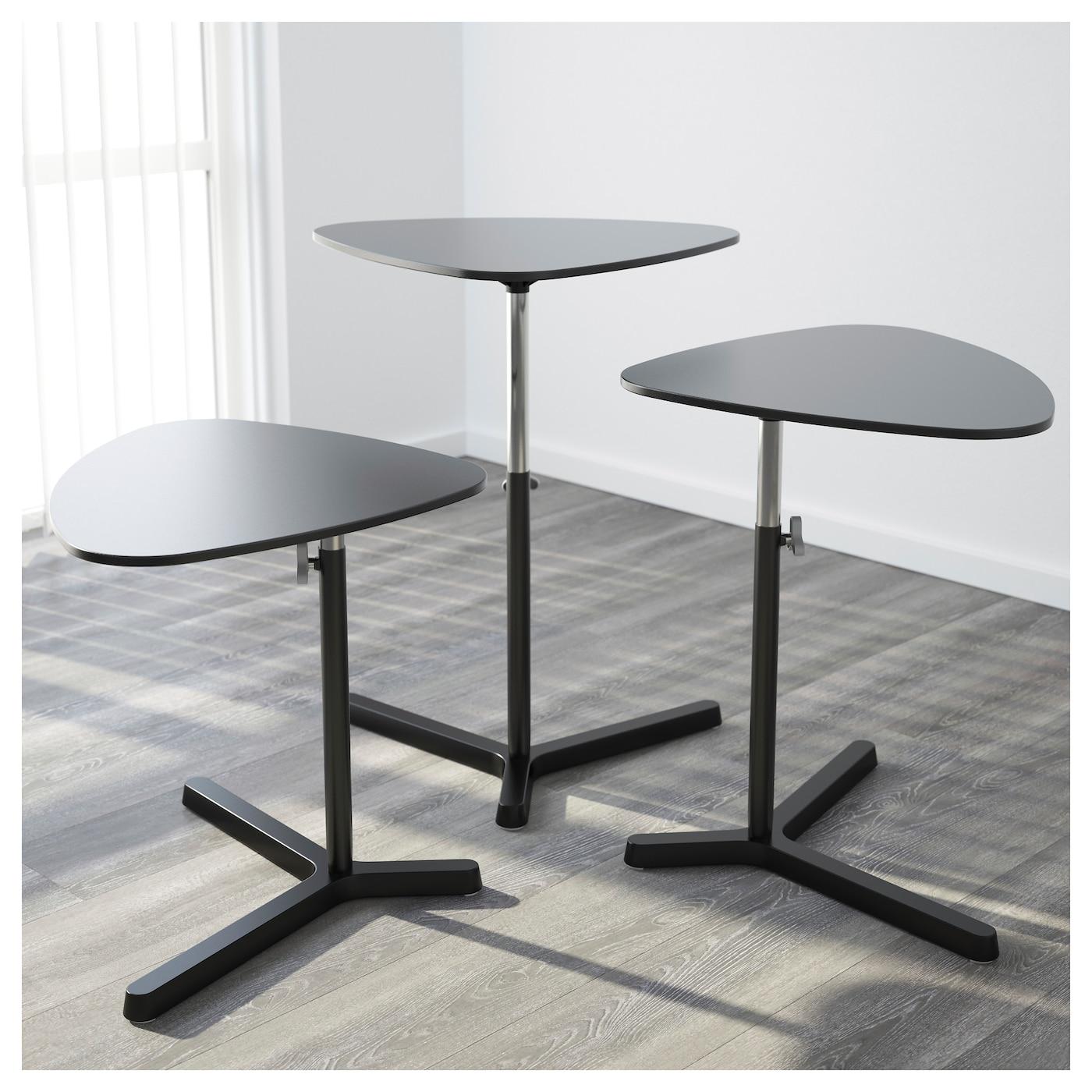 svart sen laptop stand black 60 x 50 cm ikea. Black Bedroom Furniture Sets. Home Design Ideas